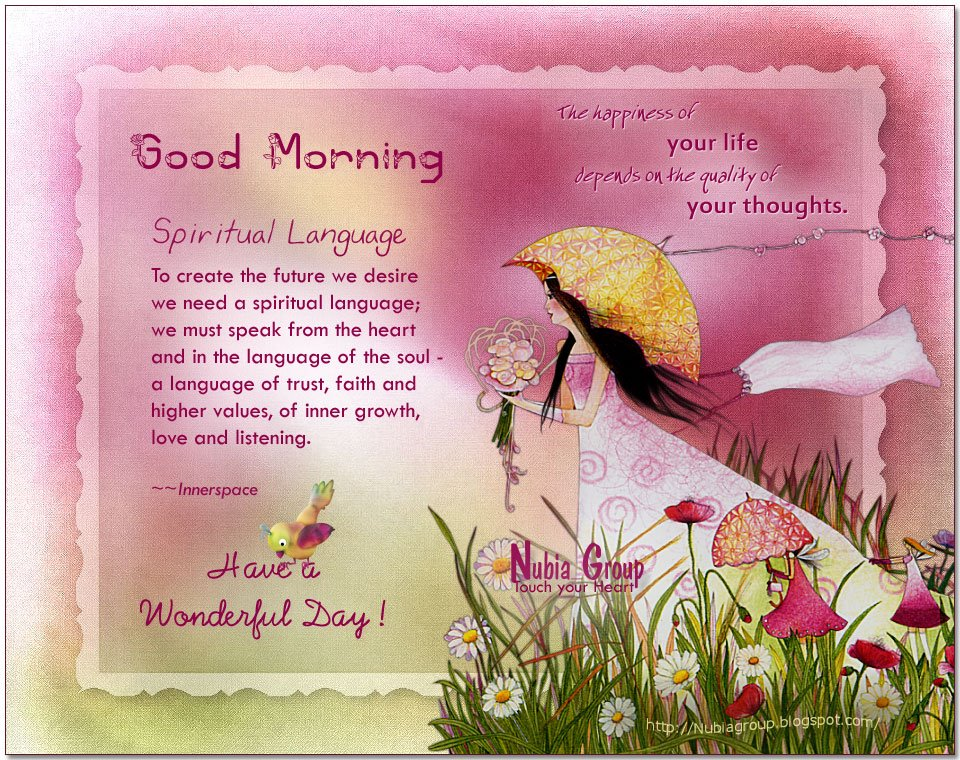 Good Morning Spiritual Quotes Prepossessing Good Morning  Daphnegan's Blog