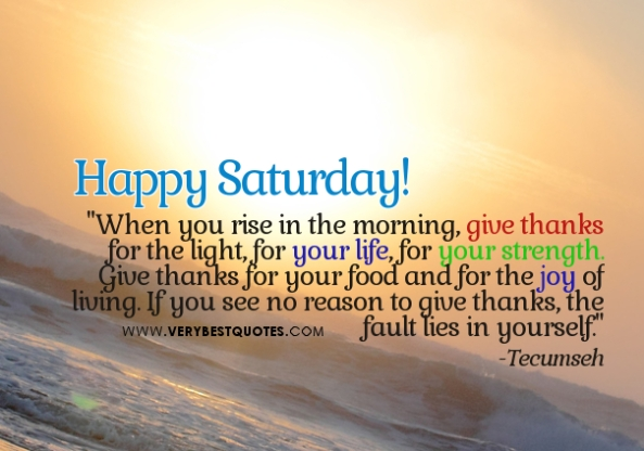 Saturday quote