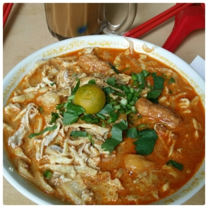 Delicious laksa, different place different taste...