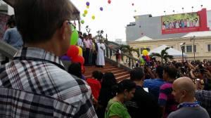 The huge crowds.